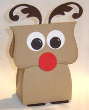10 Rudolph Reindeer Party Favors Christmas Favor Box **Kit** image 1