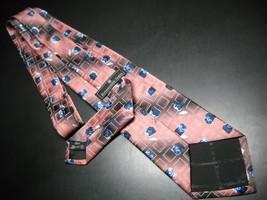 Ermenegildo Zegna Disegno Esclusivo Neck Tie Broad Band Stripes with Blue Roses image 5