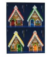 2013 46c Gingerbread Houses, Block of 4, Imperforate Scott 4817-4820c Mi... - $12.95