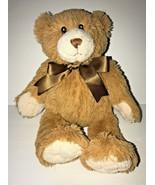 "First Impressions 12"" Teddy Bear Brown Bow Stuffed Animal Plush Macys Ba... - $19.34"