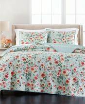 Martha Stewart Collection Garden Floral Reversible Full/Queen Quilt T4102140 - $86.52