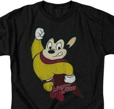 Mighty Mouse Superhero Retro 80s Cartoon Character TV series distressed CBS672 image 2