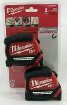 Milwaukee - 48-22-0125G - 25 ft. Magnetic Tape Measure - 2-Pack - $35.59