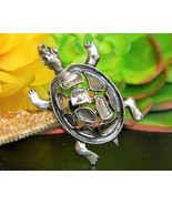 Vintage Turtle Tortoise Brooch Pin Sterling Sil... - $22.95