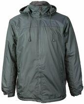 Men's Water Resistant Polar Fleece Lined Hooded Windbreaker Rain Jacket image 12
