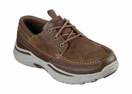 Men's Skechers Relaxed Fit Expended Menson Boat Shoe Desert - $117.58