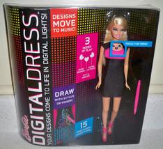 BARBIE Doll DIGITAL DRESS Doll Blonde Pink & Black Dress New image 1