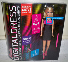 BARBIE Doll DIGITAL DRESS Doll Blonde Pink & Black Dress New image 3