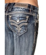 ROCK REVIVAL JEANS Mid Rise Ashely Easy Cropped Capri Crop Jean 26 READ ... - $66.75