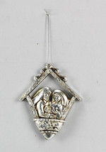 Youngs Christmas Decor- Nativity Holy Family Ornament - Silver #95079 - $7.87