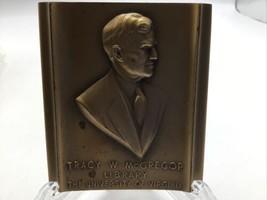 Medallic Art Co Medal University of Virginia Tracy W McGregor Library 3.... - $58.04
