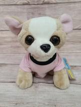 """Webkinz Plush Chihuahua Puppy Dog Stuffed Animal 7"""" T-shirt Tan White Sealed New - $24.24"""