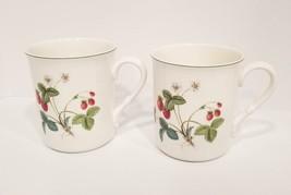 Mikasa Optima Strawberry Hill Set of 2 Strong Fine China Mug Coffee Tea ... - $39.60