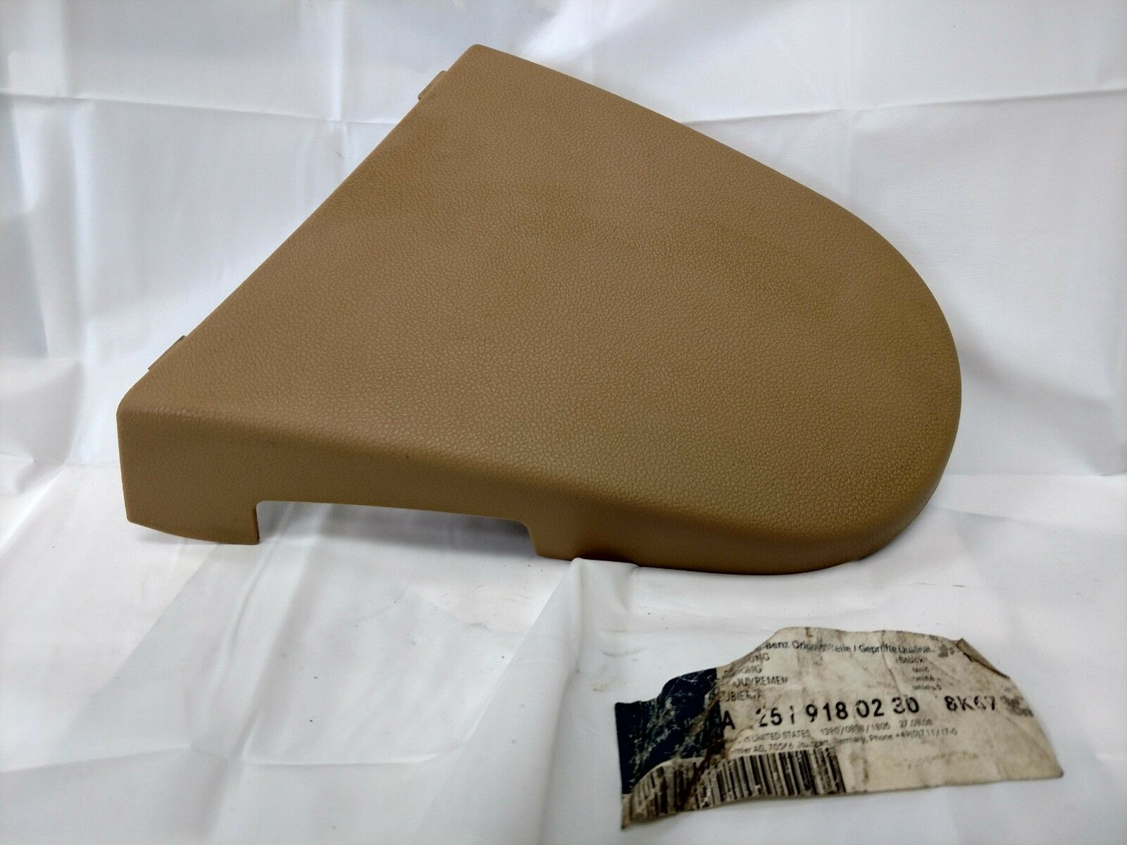 01-05 Mercedes W203 C240 C320 Front Right Side Seat Headrest Head Rest Beige OEM