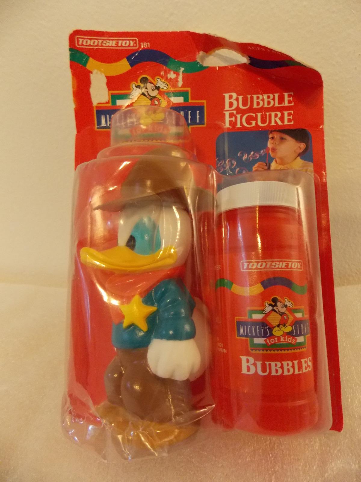 1995 Disney Donald Duck Cowboy Bubble Figurine