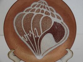 "AnneMarie Davidson  Retro Seashell Copper & Enamel Plate 6""  Copper  - $36.00"