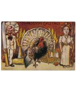 Vintage Thanksgiving Postcard Artist Signed Robbins Fantasy - $9.95