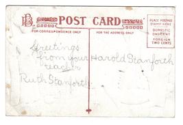 Vintage Thanksgiving Postcard Artist Signed Robbins Fantasy image 2