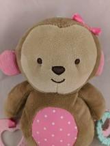 "Carters Child of Mine Monkey Plush Teether Rings 9"" Stuffed Animal toy - $11.95"