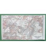 1913 MAP ORIGINAL Baedeker - FRANCE Clamart  Sceaux Villejuif - $3.38