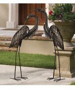 Regal Garden Decor Bird Statuary Standing Art LG - Bronze Heron Preening... - $85.00+