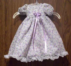 Under 1.5 Pounds Tiny Preemie Floral Lace with Rosettes Gown - $27.00