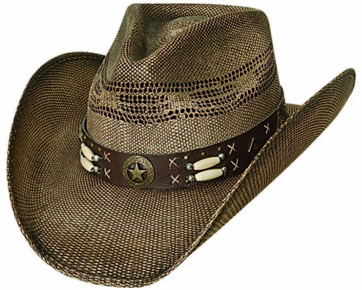 Primary image for Bullhide Desperado Bangora Straw Cowboy Cowgirl Hat Barrel Beads Concho Brown