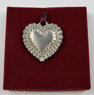 Primary image for Longaberger 1993 Pewter Sweet Heart Tie-On Collectible Accent Home Decor Metal