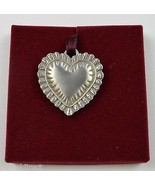 Longaberger 1993 Pewter Sweet Heart Tie-On Collectible Accent Home Decor... - $17.99