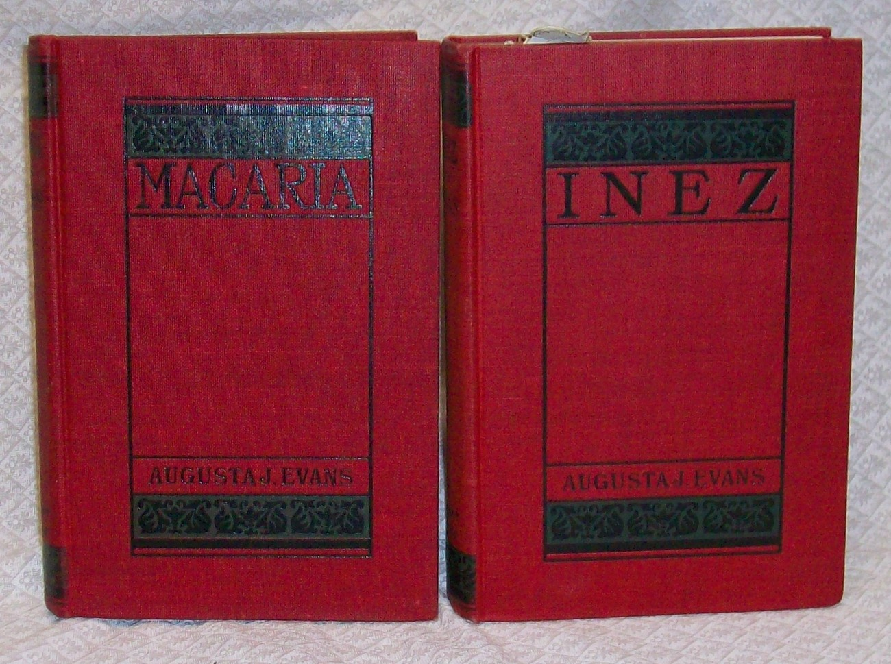 Macaria & Inez by Evans, Augusta 2 titles