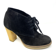 J Crew MacAlister Black Heel Ankle Boots Suede Size 7 - $27.55