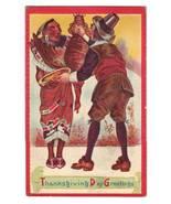 Vintage Thanksgiving Postcard Indian Pilgrim - Series 1000 - $9.95