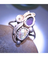 DISCOUNTED Haunted CONTACT GUIDES SPELL AMETHYST TRIBAL ring 925 CASSIA4 MAGICK  - $33.77