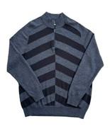 Nike Golf Tour Performance 1/4 Zip Sweater Size L 'Broken Stripe' Black ... - $24.74