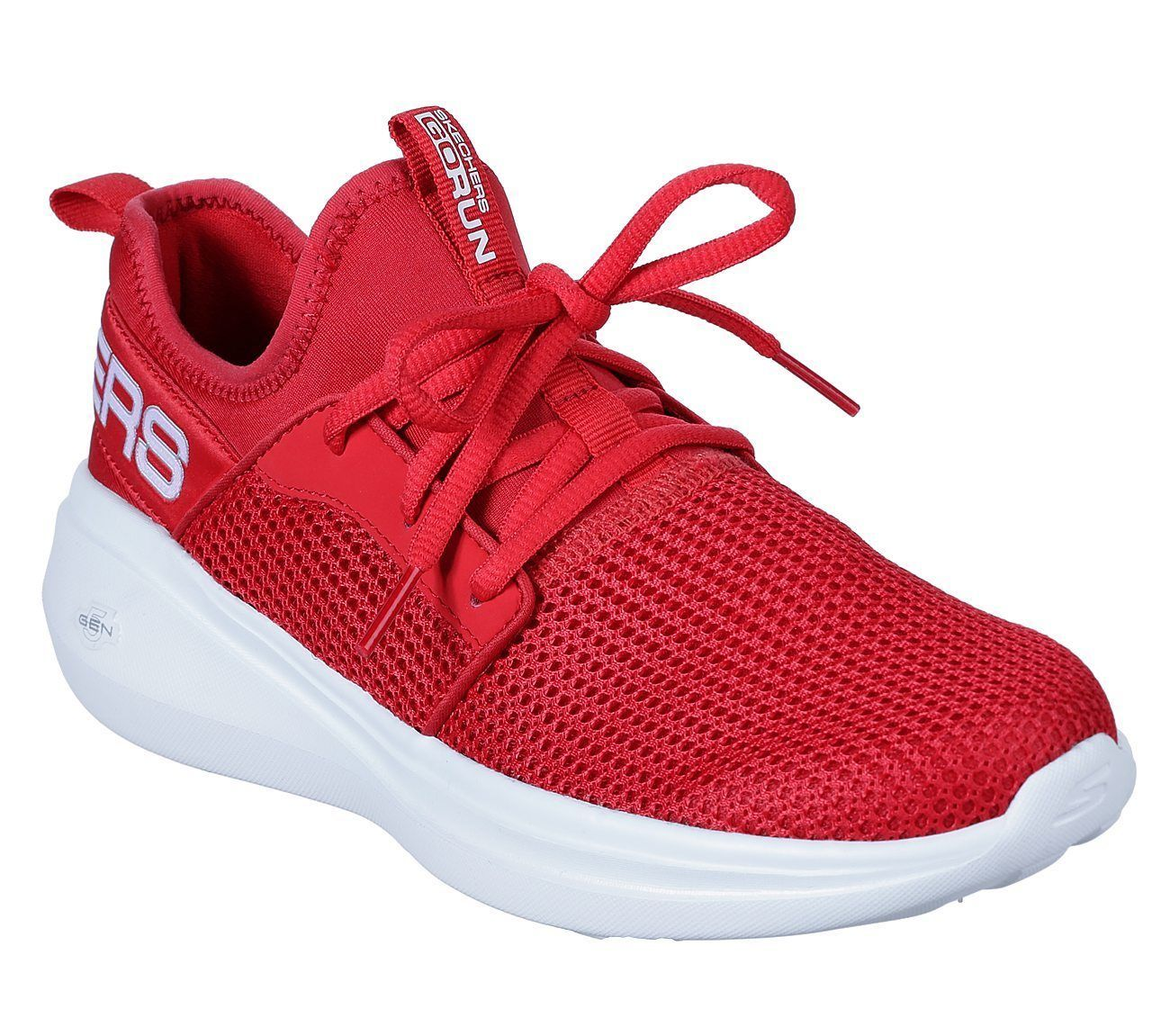 Primary image for Skechers Red GO Run Fast shoe Women Sport Workout mesh Comfort Casual Soft 15103