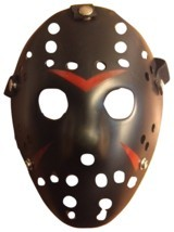 Jason Voorhees Mask - Black/Red - Dress Up - Halloween - Cosplay - Your ... - $11.57 CAD