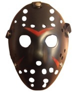 Jason Voorhees Mask - Black/Red - Dress Up - Halloween - Cosplay - Your ... - £6.55 GBP
