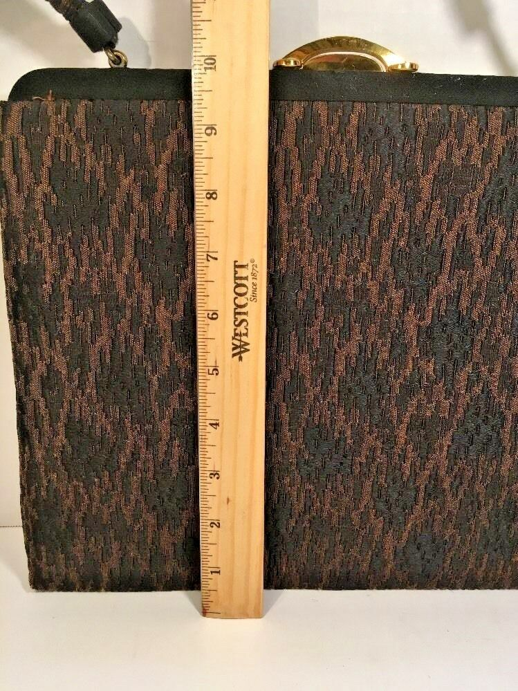 Lewis True Vintage Brown/Black Fabric Handbag