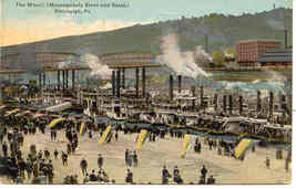 River Boats Pittsburgh Pennsylvania 1914 Vintage Post Card - $6.00
