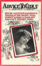 Advice To Girls 1913 Vintage Post Card - $6.00