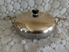 Wear-Ever Skillet Round Tacuco Aluminum Casserole Frying Pan & Lid G-901... - $19.39