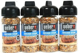 4 Ct Weber 2.50 Oz Chicago Steak Gluten Free No MSG Seasoning BB 3/15/20 - $19.99