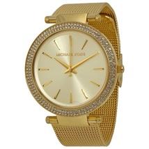 Michael Kors mk3368 Mesh Band Darci Women's Gold Tone Watch - $159.00