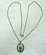 """Sterling Silver 925 Praying Hands 1"""" Pendant 20"""" Chain Necklace Both Marked - $14.84"""