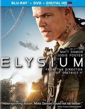 Elysium (Blu-Ray/DVD Combo/Ultraviolet/Ws 2.40/Dd 5.1/2 Disc)