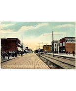 Fith Avenue and Broaday 1908 Gary Indiana vintage Post Card - $6.00
