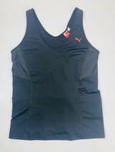 Puma Women's  Fitted Performance Sz XL Black Raceback Workout Shirt - $7.91
