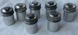 7 Vintage 35mm Aluminum Film Holder Canister Tin Container  Screw on Lids