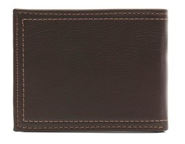 New Levi's Men's Premium Leather Credit Card Id Wallet Billfold Brown 31LV2402 image 2