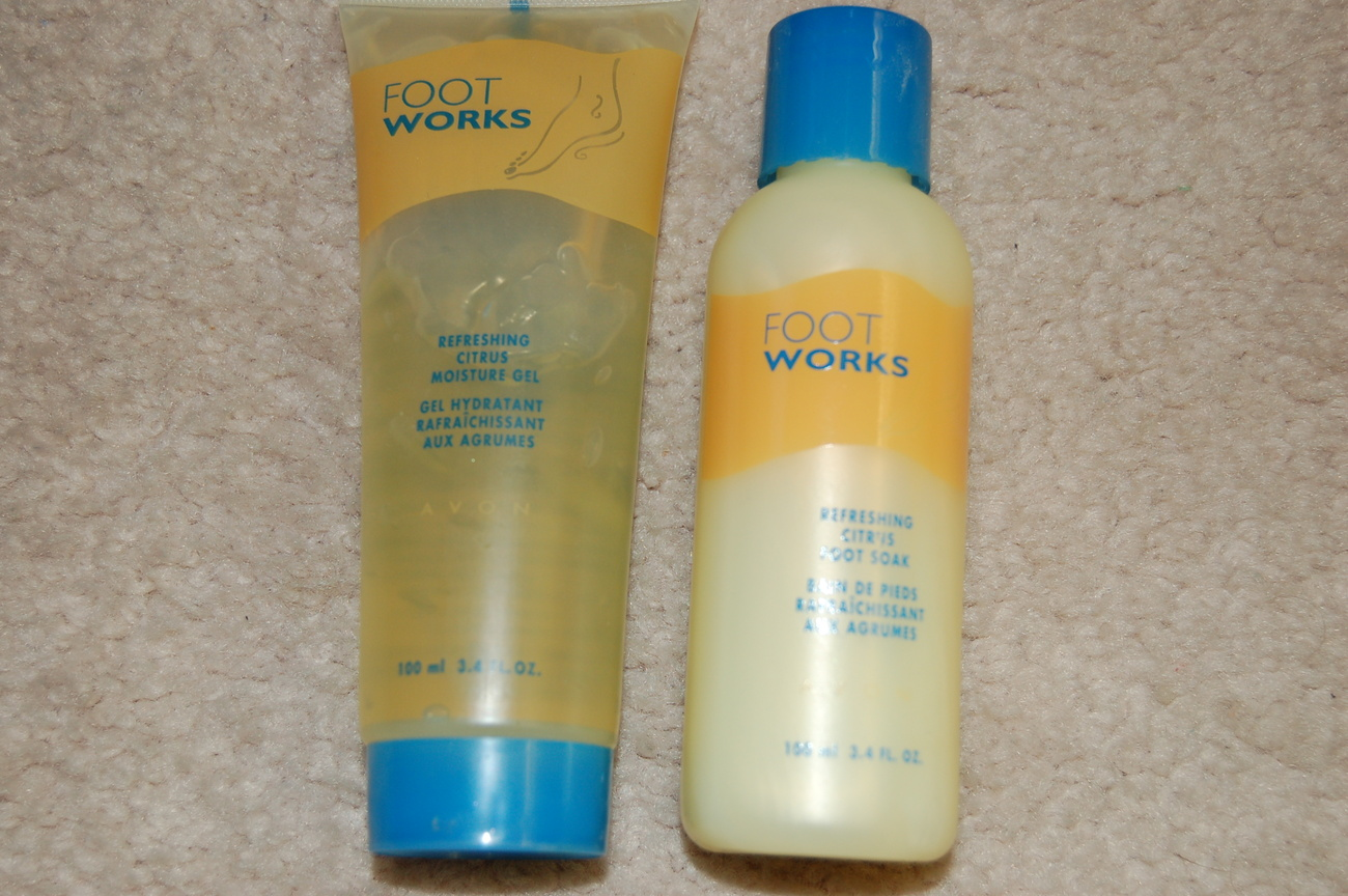 Foot Soak Moisture Gel Avon Footworks Refreshing Citrus  Bonanza